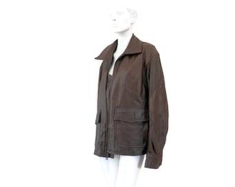 Type G8 Leather Aviator Coat US Navy Raider Jacket Size Large Brown Leather Coat Men's size Large Regular