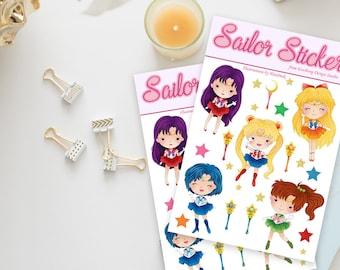 Stickers / Sailor Moon Stickers / Bishoujo Senshi Sailor Moon Stickers / Sailor Scouts / Mercury, Mars, Jupiter, Venus / Sailor Moon