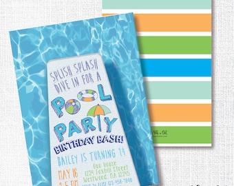 POOL SUMMER PARTY birthday school's out graduation backyard  swim teen tween diving board dive in