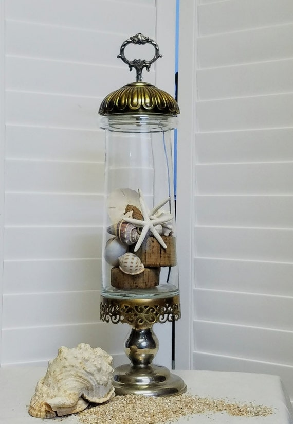 """Wedding Wishing Well Wedding Guest Book Apothecary Terrarium Cookie Jar, Collectible, Display Piece-""""Ships International"""" Email For Rates"""
