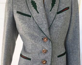 Vintage Loden Frey Womens Blazer