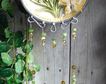 Butterfly Wind Chime in 3D with Stained Glass Chimes