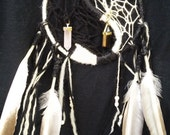 RESERVED - Yin/Yang Dreamcatcher with Obsidian and Rose Quartz - Reserved