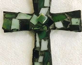 Mosaic Stained Glass 3x4 wooden Cross Double sided