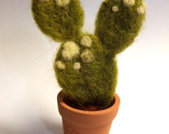 Needle felted mini cactus