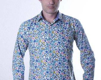 Mens fitted shirt - Olive - BAÏSAP