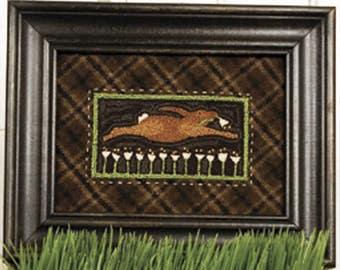"Rabbit Punch Needle Pattern - Punchneedle Embroidery Pattern ""Night Burglar"" #TTB 305"