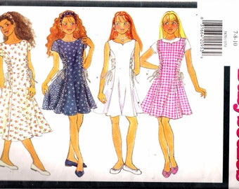 """Vintage 1995 Butterick 3870 Busybodies Girl's Dress Sewing Pattern Size 7-8-10 Breast 26""""-27""""-28 1/2"""""""