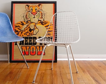 Vintage Eames DKR Wire Chair H Base