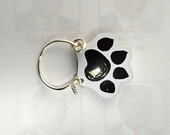 Hand Painted Cat Paw Print Magnetic Eyeglass Holder