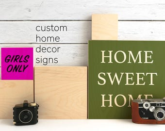 Wood Wall Decor Custom Wood Sign Custom Signage Personalized Wall Sign Housewarming Gift Personalized Prints for Girls Room Graduation Gift