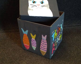 NO Cat treat box,Pet storage, Pet supplies, Cat lovers gift box