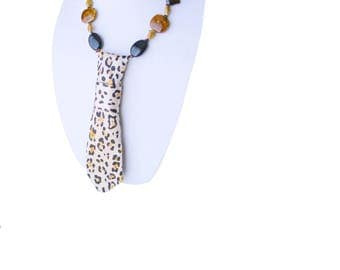 necktie necklace VELOCITY cheetah women's neckties animal print wildlife modern necktie ladies necktie