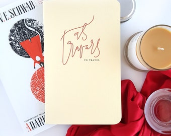 As Travars Journal —Hand Lettered A Darker Shade of Magic by V.E. Schwab Notebook or Planner