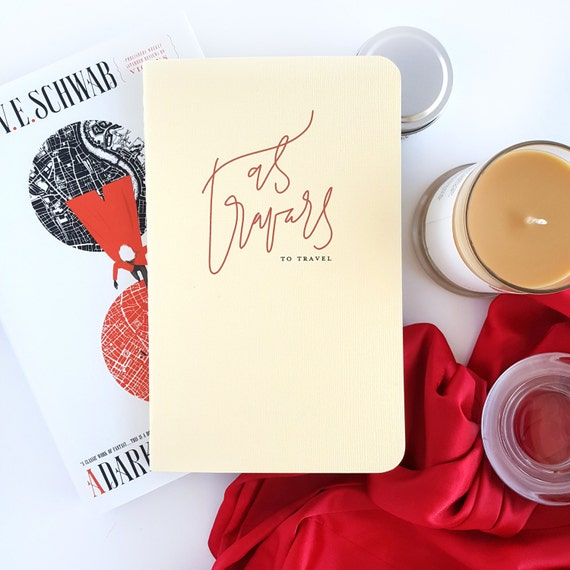As Travars Journal — Hand Lettered A Darker Shade of Magic by V.E. Schwab Notebook or Planner