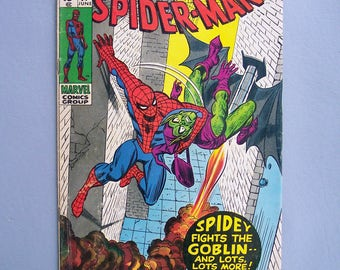 Vintage 1971 Amazing Spiderman No. 97 Good Condition Green Goblin Issue