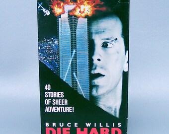 Vintage 1989 Die Hard VHS tape & Box
