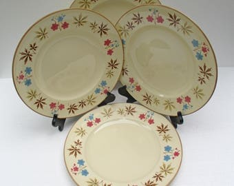 Franciscan China - Larkspur Pattern - Gladding McBean - Set of 4 Dinner Plates