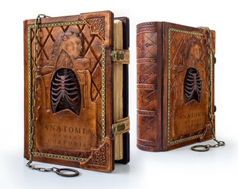 RESERVED - Anatomia Humani Corporis, 8 x 11 inches, ultimate Renaissance anatomical sketchbook, Medieval journal, DaVinci sketchbook