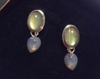 Sterling and Glass Artisan Earrings by Gail Crosman Moore