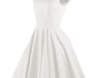 Black White Dress with Bow