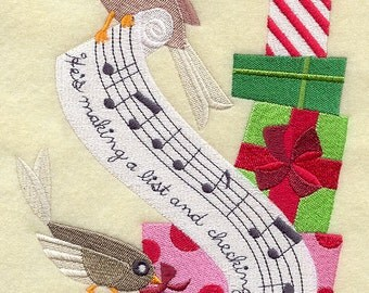 Merry Melody - Santa Claus is Coming to Town - Embroidered on Made-to-Order Pillow Cover