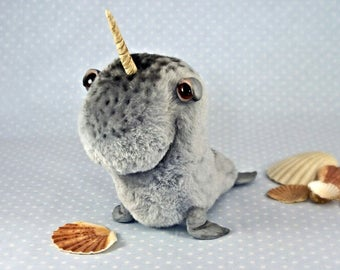 Great Narwhal, OOAK art toy