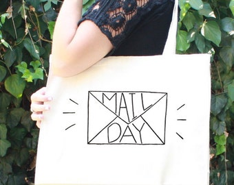 Mail Day Tote Bag - For Makers - Etsy Sellers - Crafters - Mail Bag - Shipping Bag