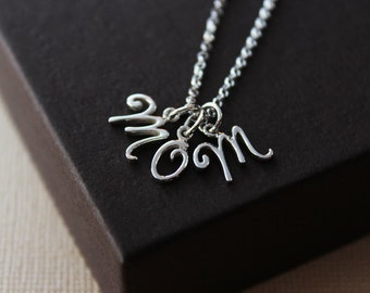 Mom necklace mom letter necklace necklace for mom mothers day gift for mom