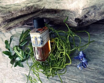 Natural Perfume oil, Lemon, Violets, Citrus, Iris, Blond Woods, 'Within The Silent Shade' 5 ml Botanical Perfume