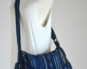 Hippie Messenger Bag Handbags Nepali Woven Bag Crossbody Bag Camera Bag Boho Bag Cotton Shoulder Bag Tribal Purse Ethnic Bag (Jasmine)