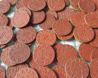 10 Vintage OPA Red Point Tokens WWII