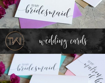 Bridesmaid Thank You Cards - Wedding Thank You Cards - Maid of Honor - Flower Girl - Matron of Honor BC217