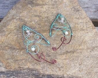 Elf Ear Cuffs - The Kraken - Elven Jewelry - Fairy Ear Cuffs - Elf Ear Wraps - Summer Beach Jewelry - Greyjoy