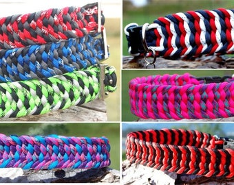 Custom Trilobite Paracord Dog Collar, Choose Your Colors & Closure Type, Paracord Collar, Strong Sight Hound Collar Adjustable Biothane