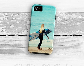 Surfer Girl iPhone 6s Case - iPhone 6s Plus Cover  iPhone 5s Case - Surf iPhone - Ocean Beach iPhone 5C Case -  iPhone 4/4s Case Beach Cover