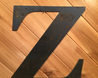 """Large 22"""" Raw or Painted Metal Letter Z by PrecisionCut on Etsy"""