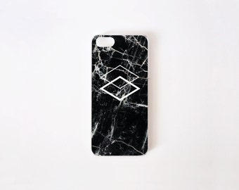 Black Marble iPhone SE Case - Geometric iPhone 5 Case - Black Marble Print iPhone 5 Case - Geometric iPhone Case - Accessories for iPhone 5s