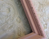 Shabby Chic Pink Painted Wood Frame No Glass