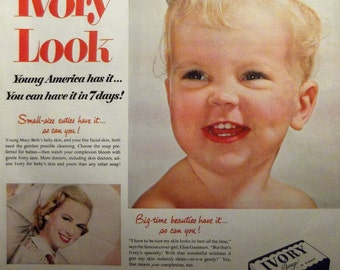 IVORY SOAP Baby Original Vintage Magazine Ad Bathroom Decor Ready To Frame Additional Ads Ship Free
