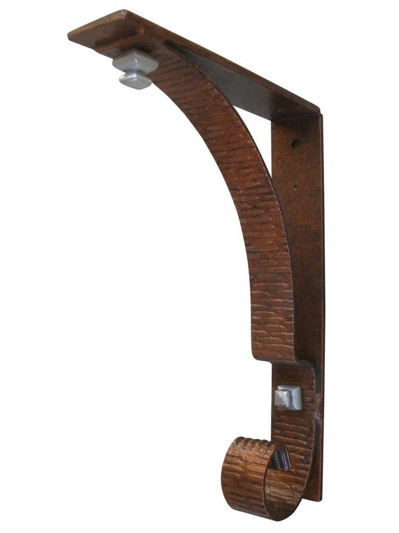 Architectural Support Brackets : Heavy duty wrought iron custom shelf bracket for granite and