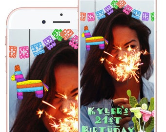 Snapchat Fiesta Geofilter, Snapchat Fiesta Party, Mexican Fiesta Party, Cinco de Mayo Party, Snapchat Party Geofilter, Geofilter Birthday