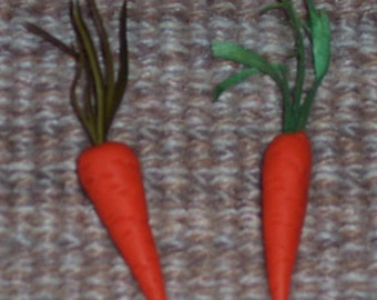 Miniature Carrots ,appx 1.25 inch,10/pkg,handmade,polymer clay,Easter crafts