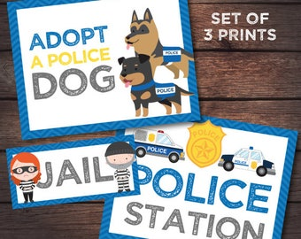 SALE Police Birthday Party, Police Printables, Police Station Party, Cops and Robbers Birthday Party, DIGITAL files