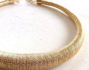 Gold Minimalist Choker Statement Jewelry