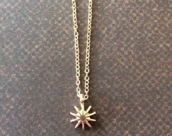 Starburst - Starburst Necklace - Gold Starburst - Star Burst - Star Necklace - Star Necklace Gold - Gold Star Necklace - Star Jewelry - Gift