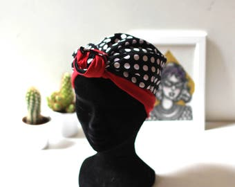 Headwrap  / Reversible scarf flowers yellow