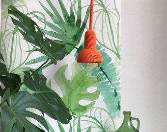 Lampe, ceiling pendant lamp in orange