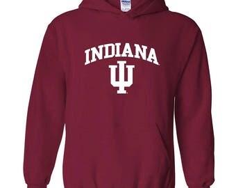 Indiana Hoosiers Arch Logo Hoodie