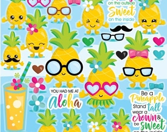 80% OFF SALE Pineapple clipart commercial use, pineapple vector graphics, pineapples digital clip art, digital images - CL1084